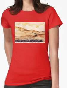African Silhouettes Womens Fitted T-Shirt