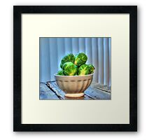 Brussels Sprouts II Framed Print