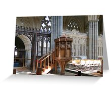 The Pulpit - Exeter Cathedral Greeting Card