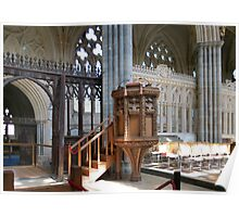 The Pulpit - Exeter Cathedral Poster