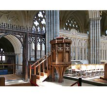 The Pulpit - Exeter Cathedral Photographic Print