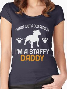 I'M A STAFFY DADDY Women's Fitted Scoop T-Shirt