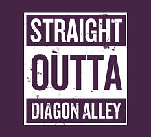 Straight Outta Diagon Alley - White Words Unisex T-Shirt