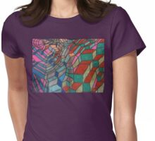 Colorful Doodle Womens Fitted T-Shirt