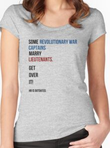 some revolutionary war captains marry lieutenants Women's Fitted Scoop T-Shirt