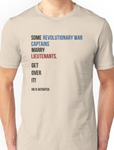 some revolutionary war captains marry lieutenants Unisex T-Shirt