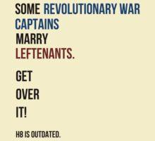 some revolutionary war captains marry leftenants by SallySparrowFTW