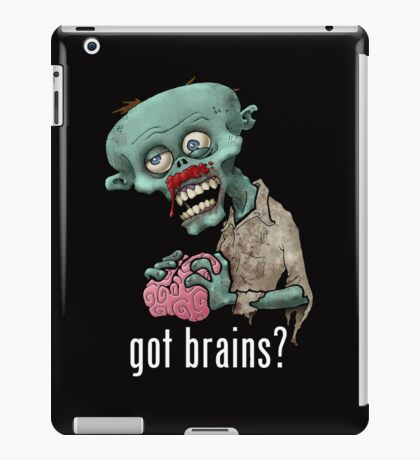 zombie got brains iPad Case/Skin
