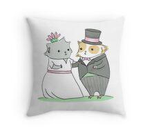 Guinea-pig Wedding Throw Pillow