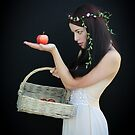 The girl with the basket of apples by Jeff  Wilson