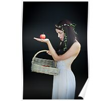 The girl with the basket of apples Poster