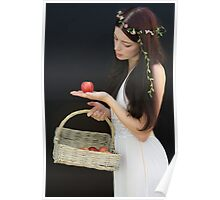 Basket of apples Poster