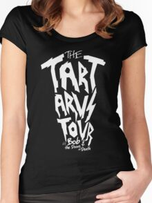 The Tartarus Tour (White Text) Women's Fitted Scoop T-Shirt