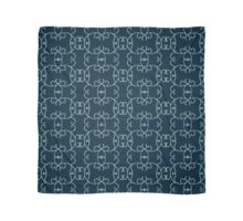 Curly Round Design on Navy Scarf