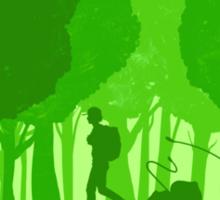 Green companion Sticker