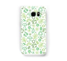 Eco symbols line art pattern Samsung Galaxy Case/Skin