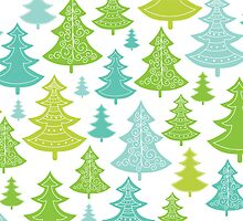 Decorative Christmas Trees Pattern by oksancia