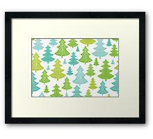 Decorative Christmas Trees Pattern Framed Print