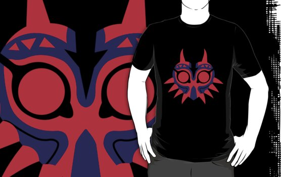Minimal Two Color Majora's Mask by viridiansong