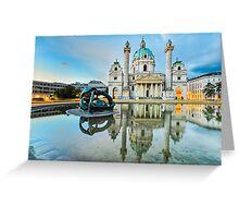 Karlskirche in Vienna, Austria at sunrise Greeting Card