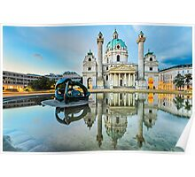 Karlskirche in Vienna, Austria at sunrise Poster