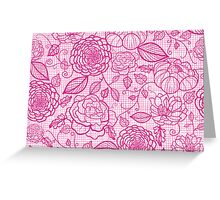 Pink lace flowers pattern Greeting Card