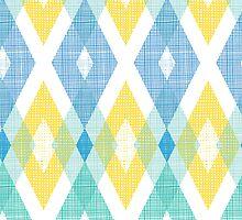 Fabric textured argyle pattern by oksancia