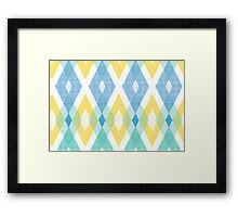 Fabric textured argyle pattern Framed Print