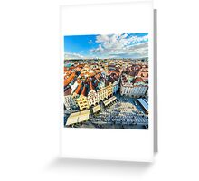 Traditional house roofs in Prague Greeting Card