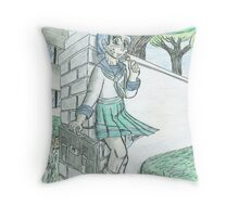 Schoolyard Greetings- plain Throw Pillow