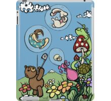 Teddy Bear And Bunny - The Bubble Flower iPad Case/Skin