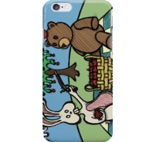 Teddy Bear And Bunny - A Dangerous Game iPhone Case/Skin