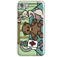 Teddy Bear And Bunny - She Left Me iPhone Case/Skin