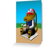 Baseball Dog Greeting Card