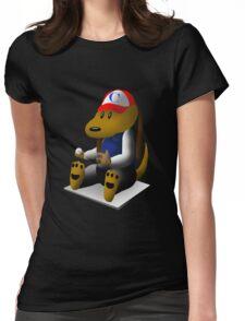 Baseball Dog Womens Fitted T-Shirt