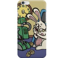 Teddy Bear And Bunny - It's All Fun And Games iPhone Case/Skin