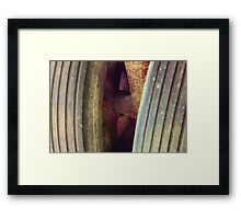 Vintage Tractor Wheels Framed Print
