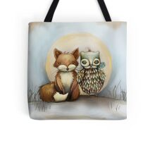 fox and owl Tote Bag