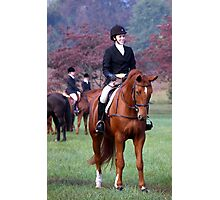 One Fine Horse and Rider Photographic Print
