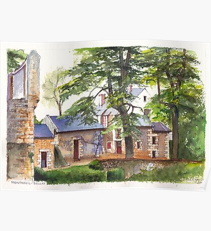 Montreuil-Bellay chateau in the Loire Valley of France Poster