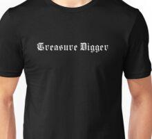 Treasure Digger – Metal detecting (white print) Unisex T-Shirt
