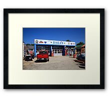 Route 66 - Shea's Gas Station Framed Print