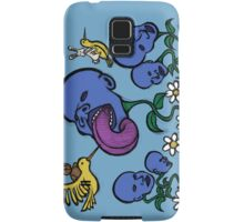 Teddy Bear And Bunny - Blueberry Flower Heads Samsung Galaxy Case/Skin