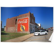 Route 66 - Coca Cola Ghost Mural Poster