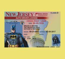 Batman Driver's License Kids Clothes