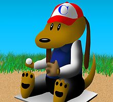 Get Well Soon Baseball Dog  by jkartlife