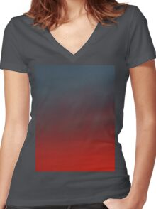 hollywood sunset - 2 Women's Fitted V-Neck T-Shirt