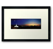 Bountiful Utah Temple - Great Salt Lake Panorama Framed Print