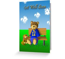 Get Well Soon Bear And Dog Greeting Card