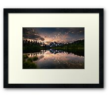 Picture Lake Awakening Framed Print